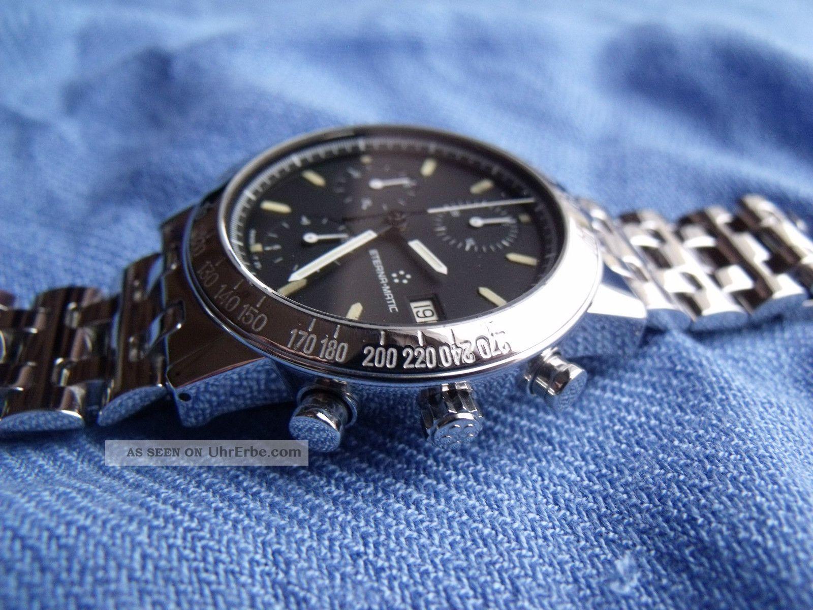 Eterna Kontiki 1856 Automatic Chronograph Valjoux 7750 Armbanduhren Bild