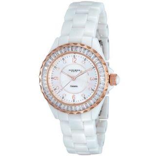 Armbanduhr FÜr Damen Akribos Xxiv Weiss Modische Uhr Ak498cl Bild