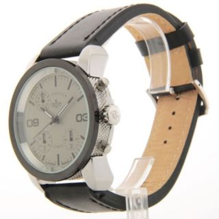 Croton Herren Sp399190bsgy Chronograph Schwarz Leder Armbanduhr Uhr Bild