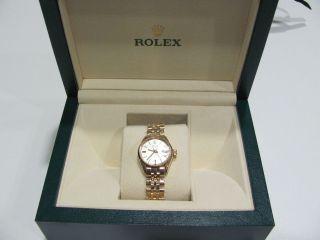 Rolex Oyster Datejust Damen Armbanduhr Automatik Bild