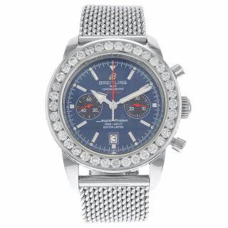 Breitling Superocean Heritage Chrono A23320 125th Jahrestag Diamant Herren Uhr Bild