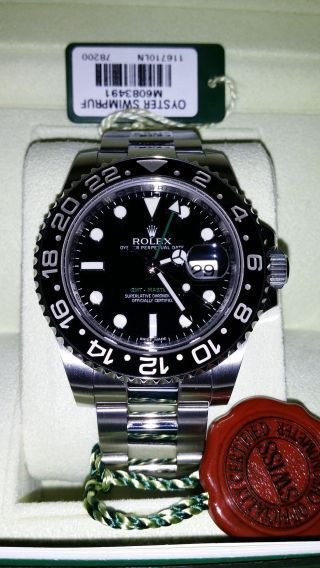 Rolex Gmt Master Ii - Ref.  116710ln Ø40mm Lc 100 02/ 2013 Bild