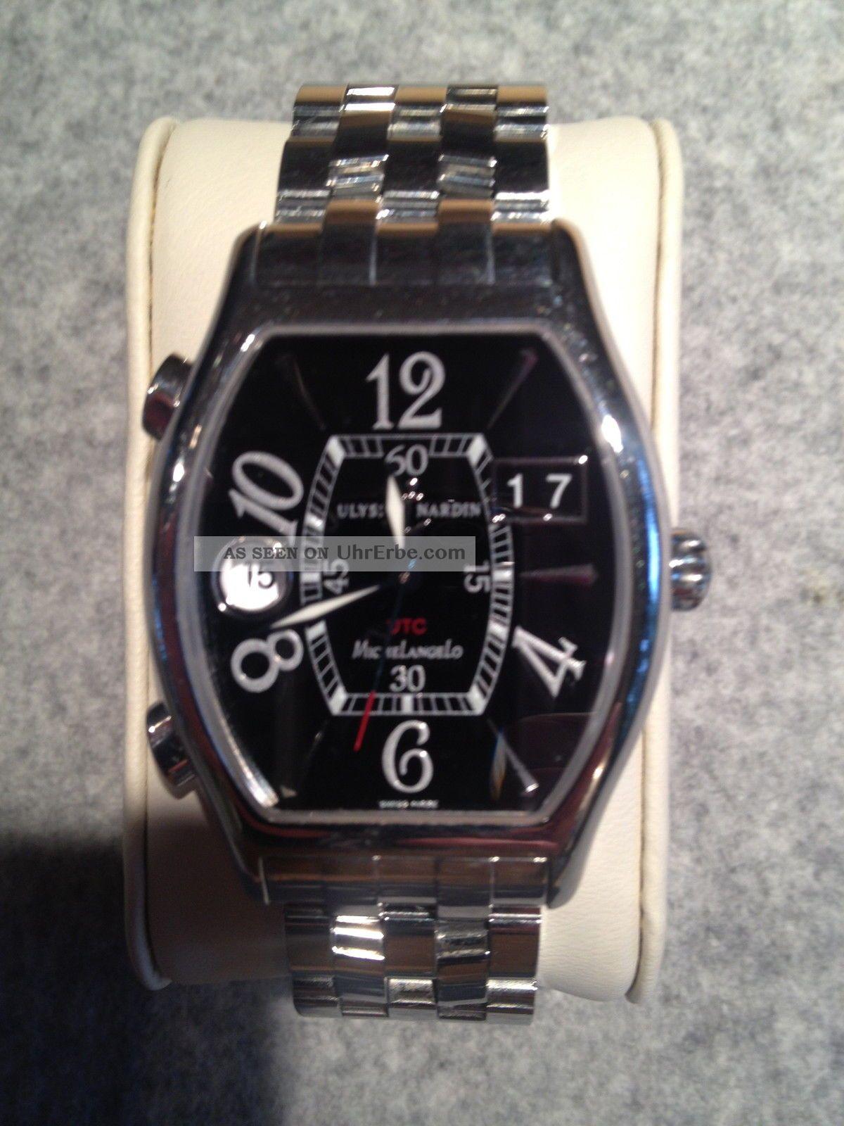 Ulysse Nardin Michelangelo Gigante Chronometer 43x38 Mm Uvp 5.  360,  - Armbanduhren Bild