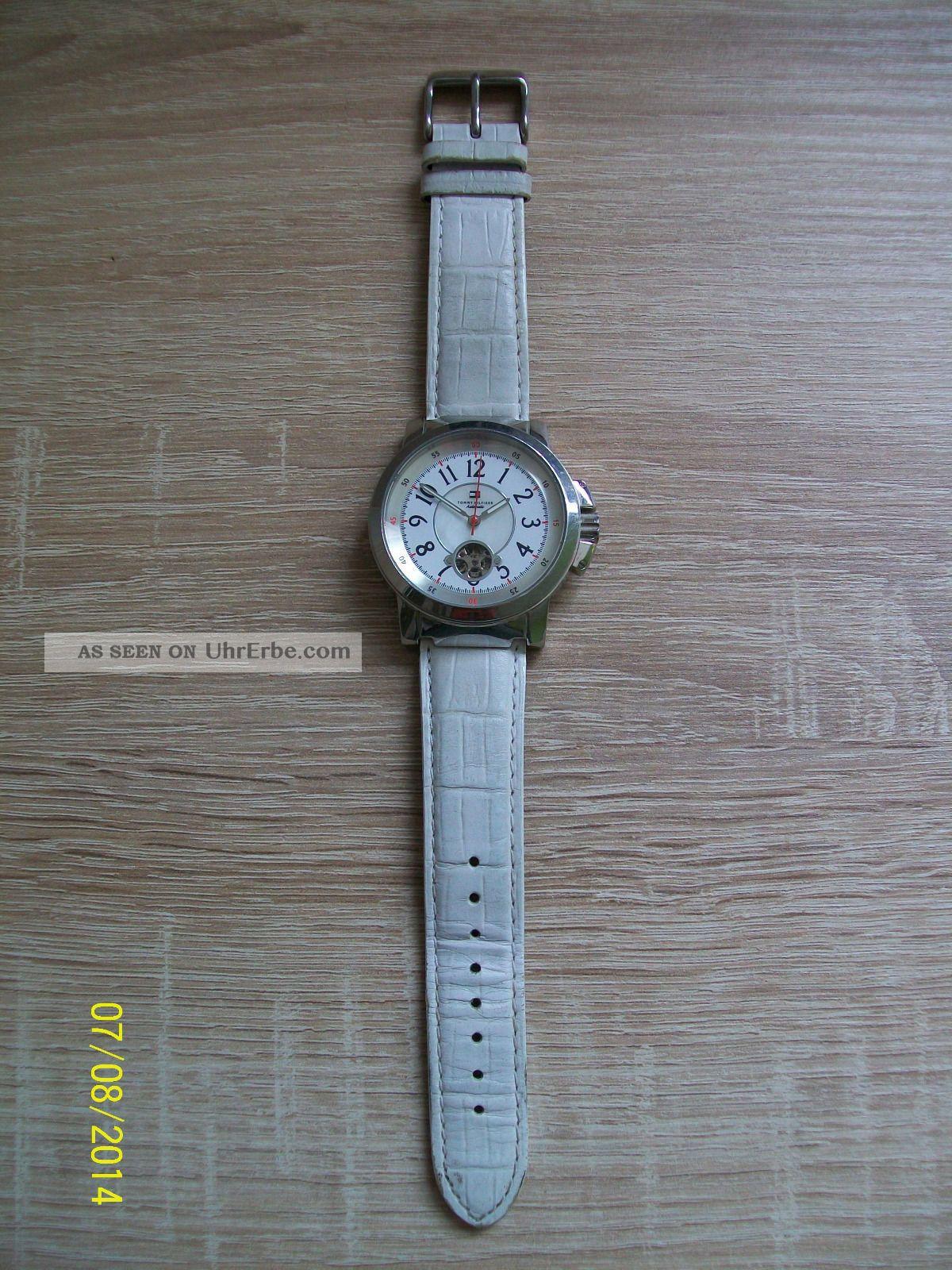 Tommy Hilfiger Armbanduhr Echt Leder Automatik Automatic 1014 Armbanduhren Bild
