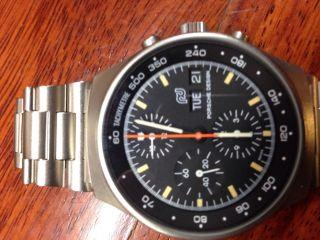 Porsche Design Automatik Orfina Mit Lemania 5100 Werk Chronograph Day Date Steel Bild
