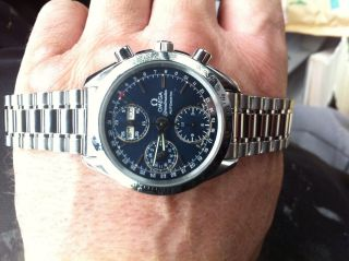 Omega Speedmaster Day Date Automatik Chronograph Mit Box Ref 35205000 Bild