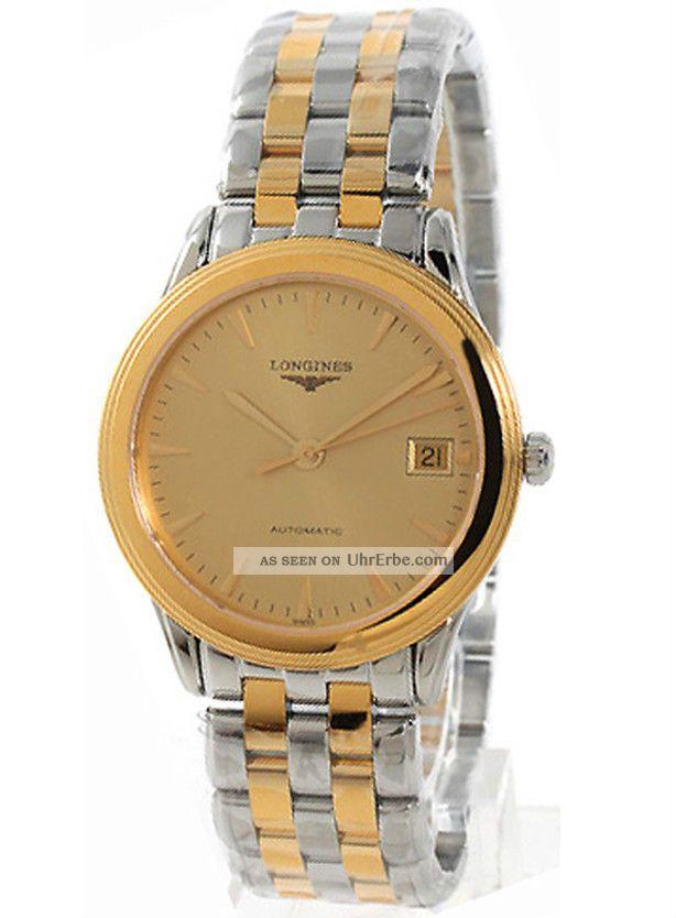 Herren Automatik Uhr Longines Flagship L47743327 Zweifarbig Armbanduhren Bild