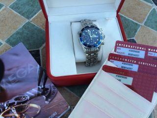 Omega Seamaster Professional Uhr Automatik Chronograph Armbanduhr Chrono Top Bild