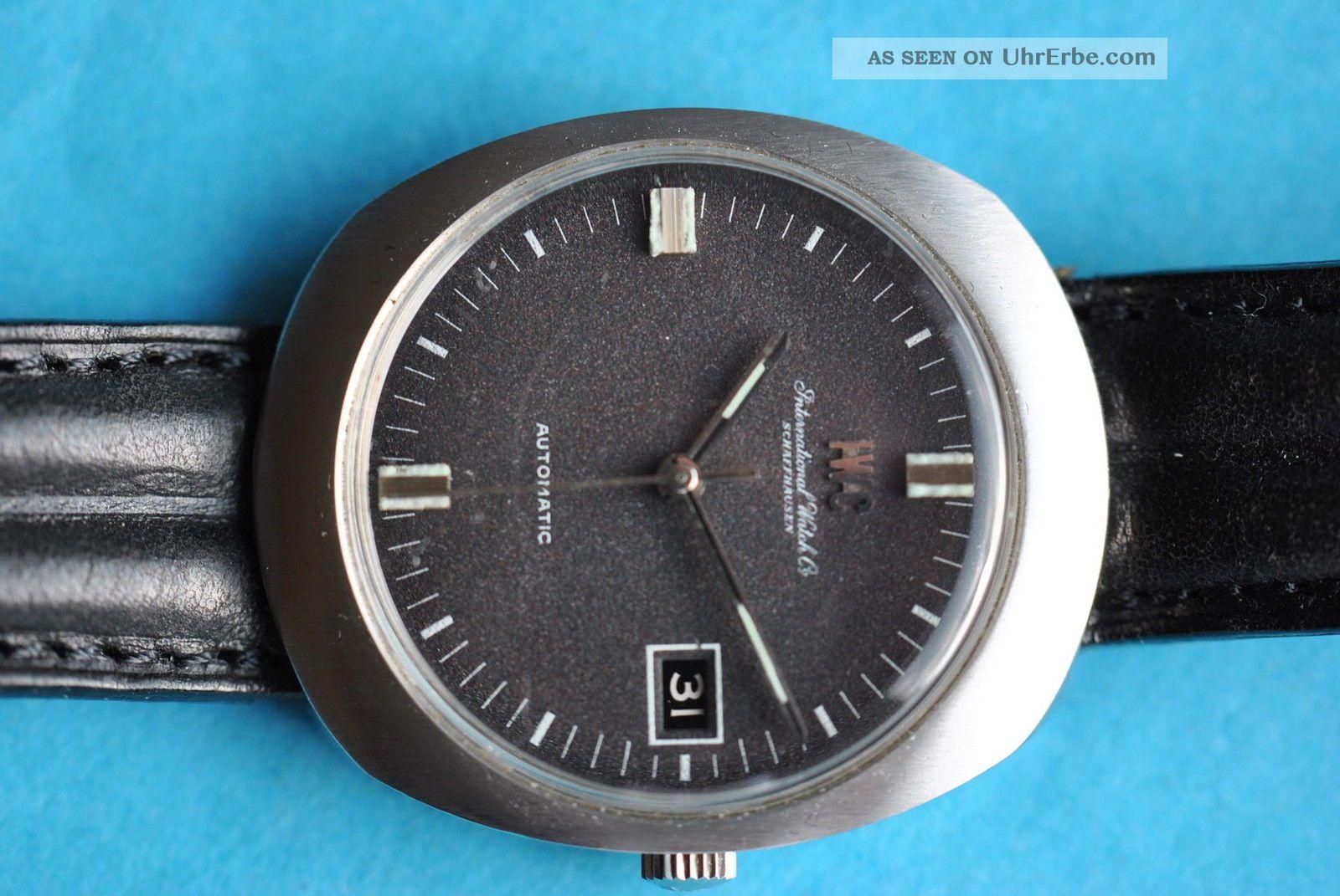 Iwc Automatik Herrenuhr Edelstahl,  Datum Aus Den Siebzigern Armbanduhren Bild