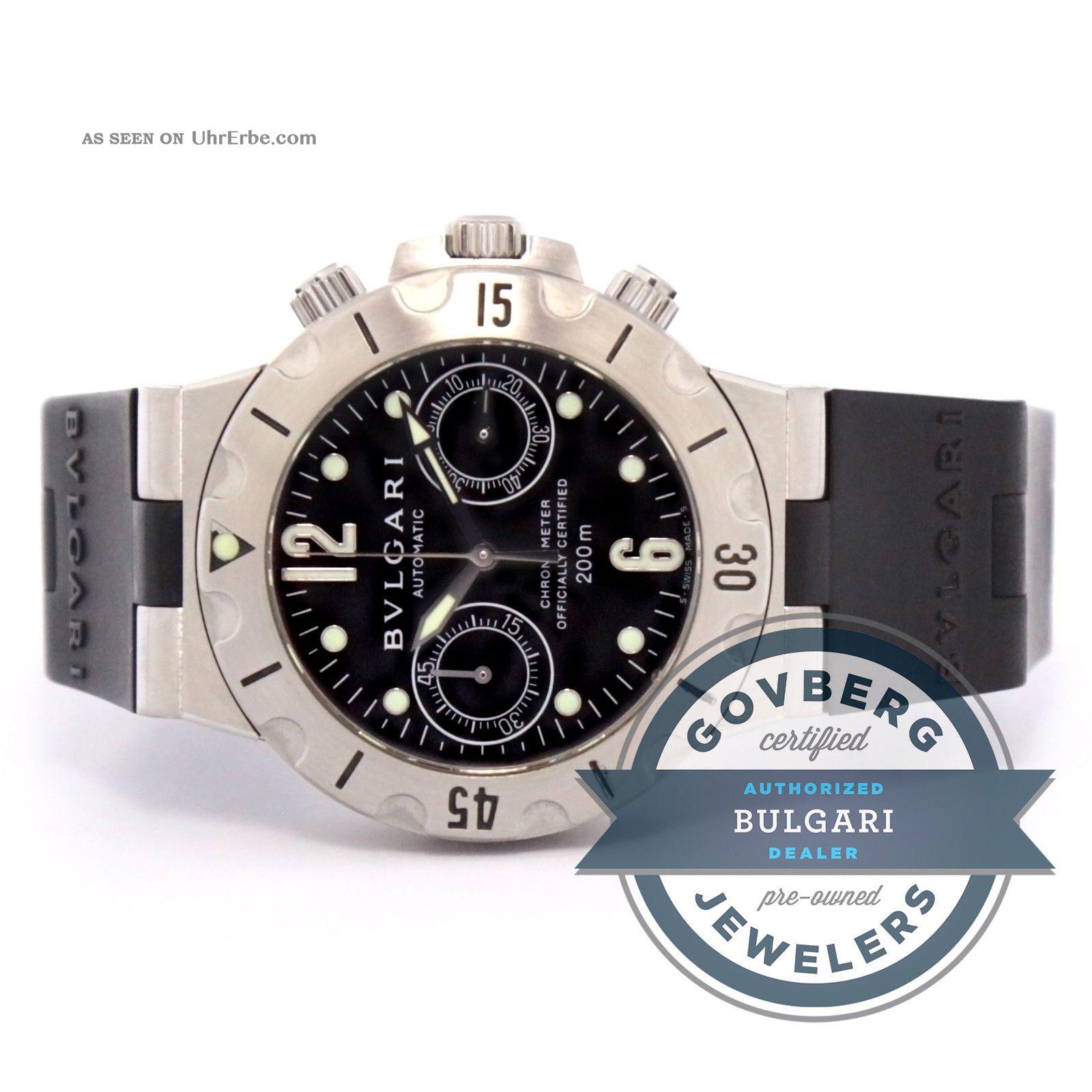 Bvlgari Diagono Scuba Čelik Automatski Chronograph Satovi Scb 38 S Armbanduhren Bild
