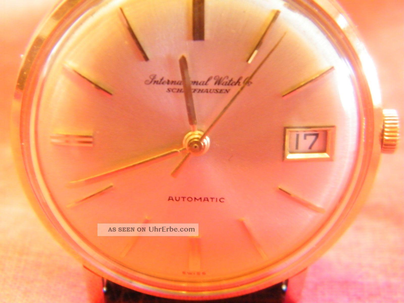 Iwc Uhr Gold Automatik Armbanduhren Bild