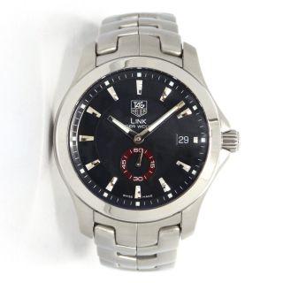 Tag Heuer Link Tiger Woods Stahl Automatische Schwarz Dial Watch Wj2110.  Ba0570 Bild