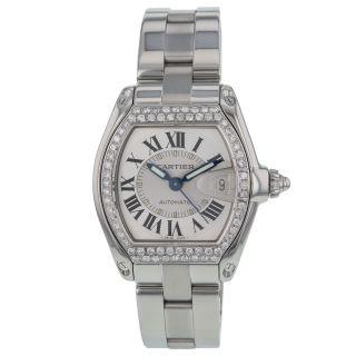 Cartier Roadster L 2510 Custom Diamant Edelstahl Automatik Herren Uhr Bild