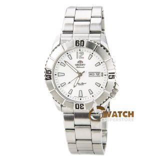 Herren Armbanduhr Orient Em7d005w Hammerhead Weißes Zifferblatt Edelstahl Datum Bild