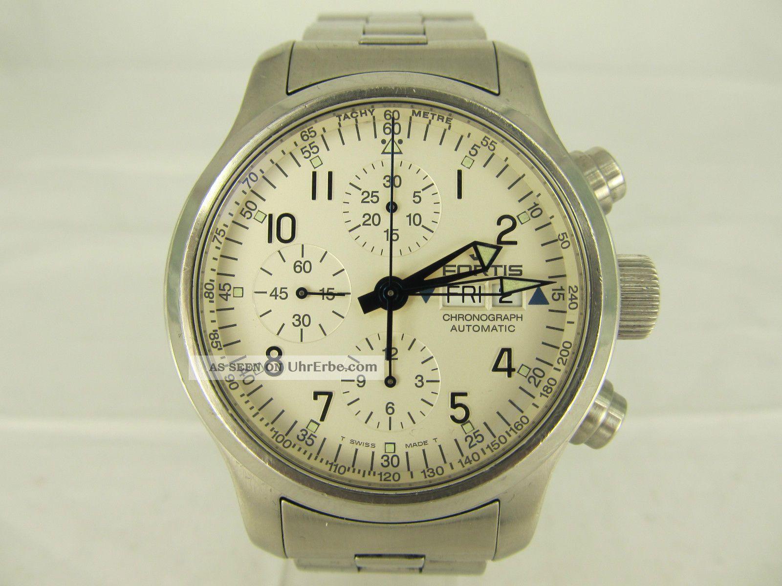 Fortis B - 42 Chronograph Automatic Stahl Herrenuhr Mit Stahlband Armbanduhren Bild