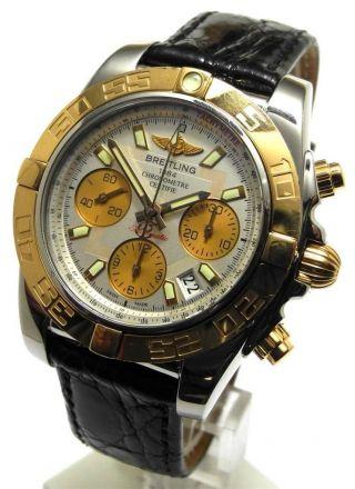 Breitling Chronomat 41 Edelstahl 18kt Rosegold Krokoband Ref Cb0140 Uvp 8510€ Bild