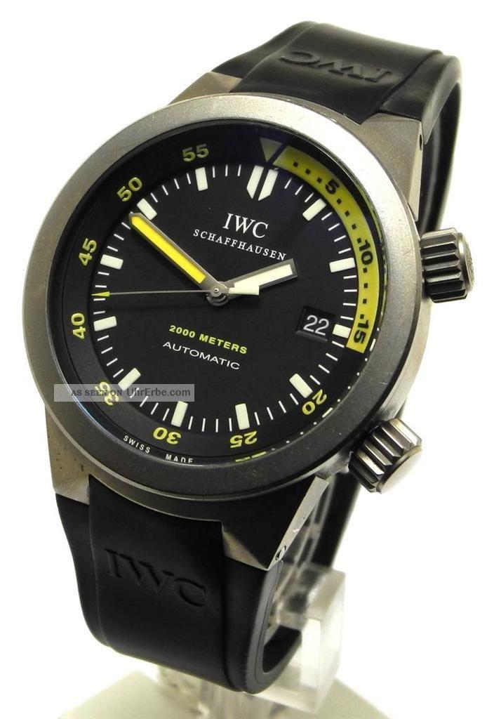 Iwc Schaffhausen Aquatimer 2000m Ref 3538titanium Armbanduhren Bild