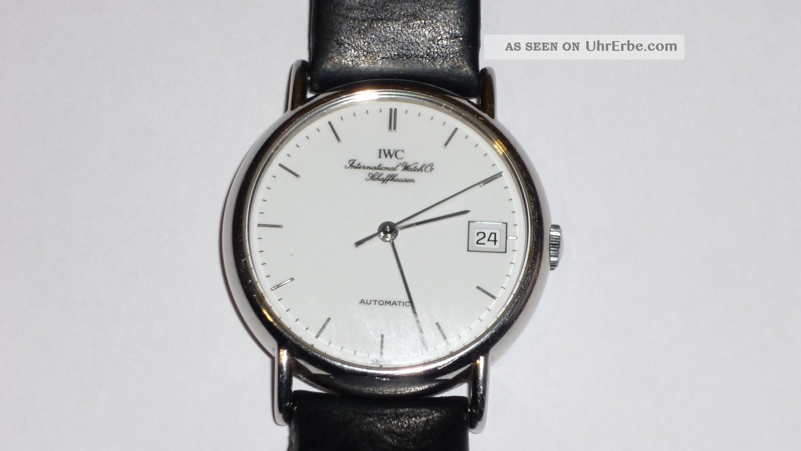 Iwc - Portofino - Automatik - Datum - Edelstahl. Armbanduhren Bild
