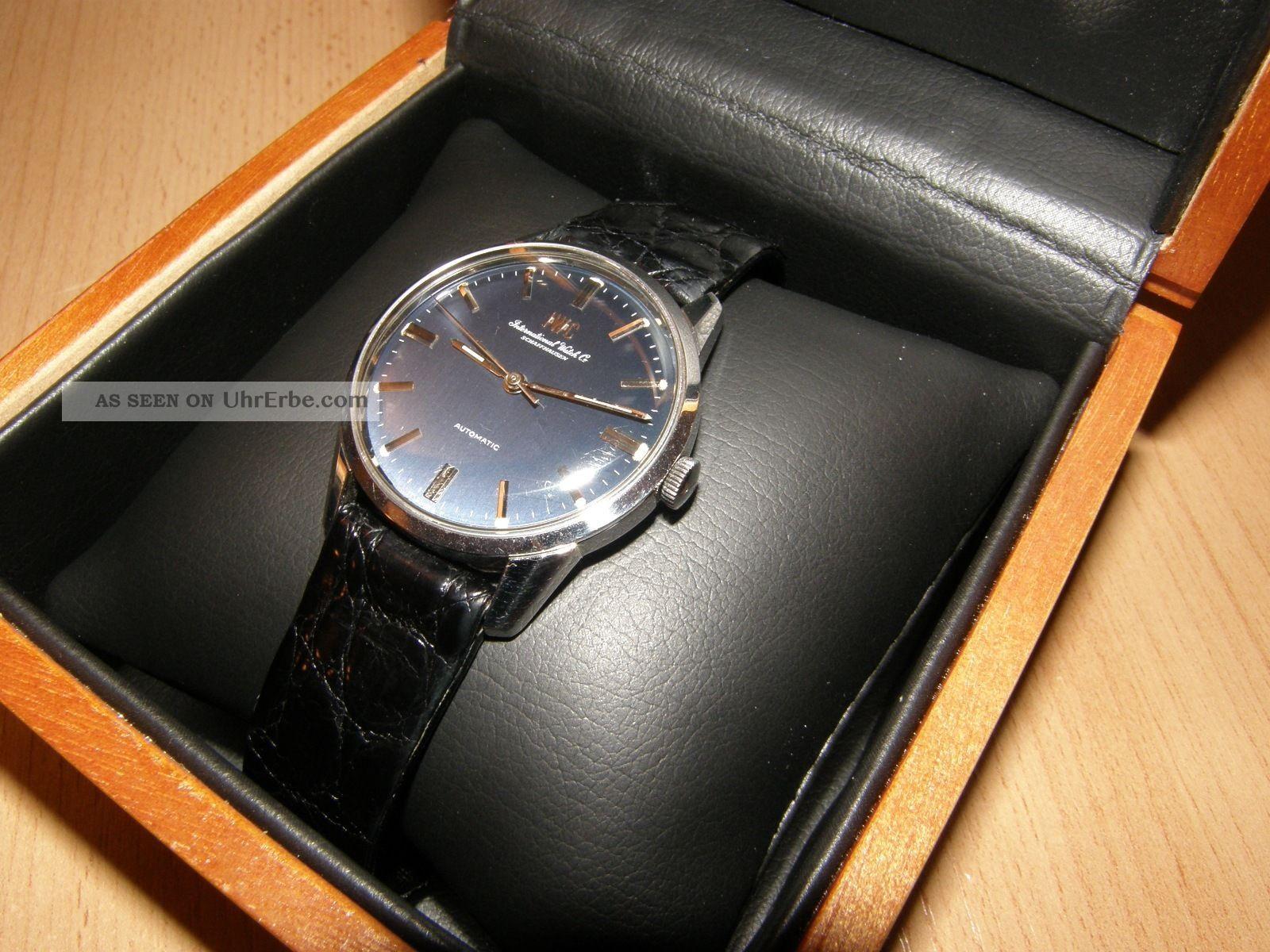 Iwc Schaffhausen Vintage Automatik Herrenuhr Schwarz Top Armbanduhren Bild