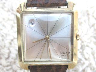 Vintage Doxa Grafic Automatic Date 18 Karat Massiv Gelbgold Bild