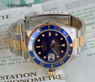 Rolex Submariner Stahl/gold 16613 Box,  Papiere,  Bis 12/2015 Bild