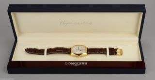 Longines Evidenza Automatic 18 Ct.  Gold Mit Lederband In Orig.  Box Bild