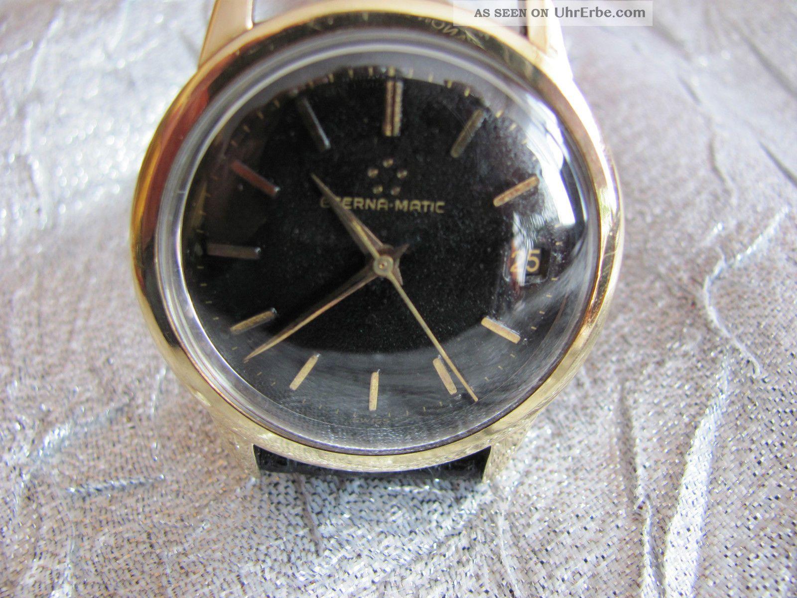 Eterna Matic Schwarzes Zifferblatt Armbanduhren Bild
