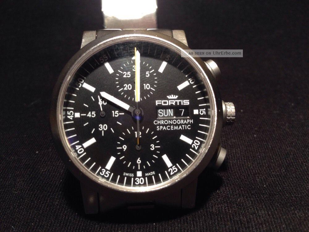 Fortis Chronograph Spacematic Frisch Revidiert Und überholt Top StÜck Armbanduhren Bild