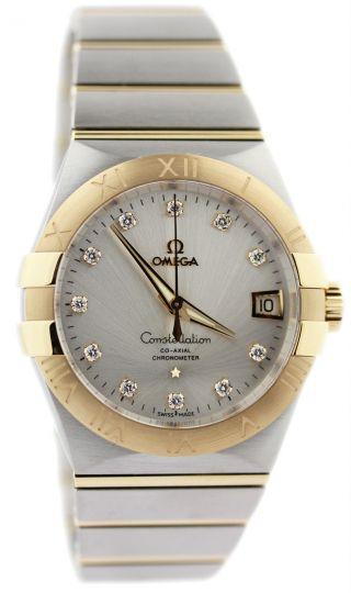 Herren Armbanduhr Omega 123.  20.  38.  21.  52.  002 Constellation Silber 38mm Dia - Bild