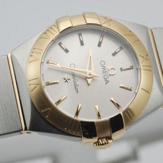 Frauen Uhr 18k Gelbgold Omega 123.  20.  24.  60.  02.  002 Constellation Ovp Bild