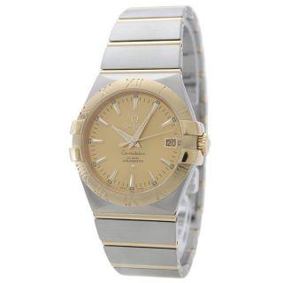 Armbanduhr Herren Omega 123.  20.  35.  20.  08.  001 Constellation Koaxial 35mm Gold Uhr Bild