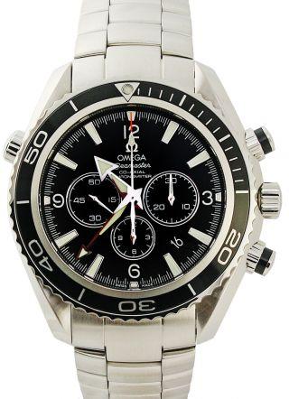 Armbanduhr Herren Omega 2210.  50.  00 Seamaster Planet Ocean Chronograph Uhr Bild