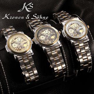 V Elegant Ks Automatikuhr Herren Uhr Mechanisch Uhr Metall Armbanduhr 3 Modelle Bild
