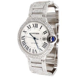 Männer Ballon Bleu De Cartier Große Völlig Geladen Diamant 14,  5 Ct 39mm Uhren Bild