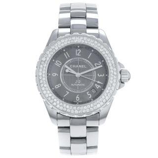 Chanel J12 Chromatisch Keramik H2979 Kt Diamant Lünette Automatisch Frauen Uhr Bild
