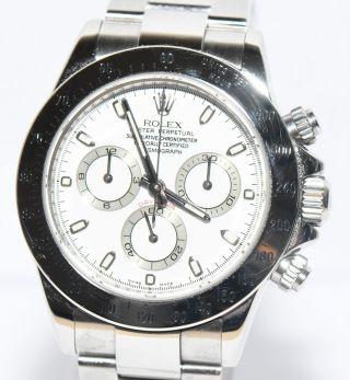 Rolex Daytona Stahl Uhr Von 2008 Papiere Box Ref.  116520 Bild