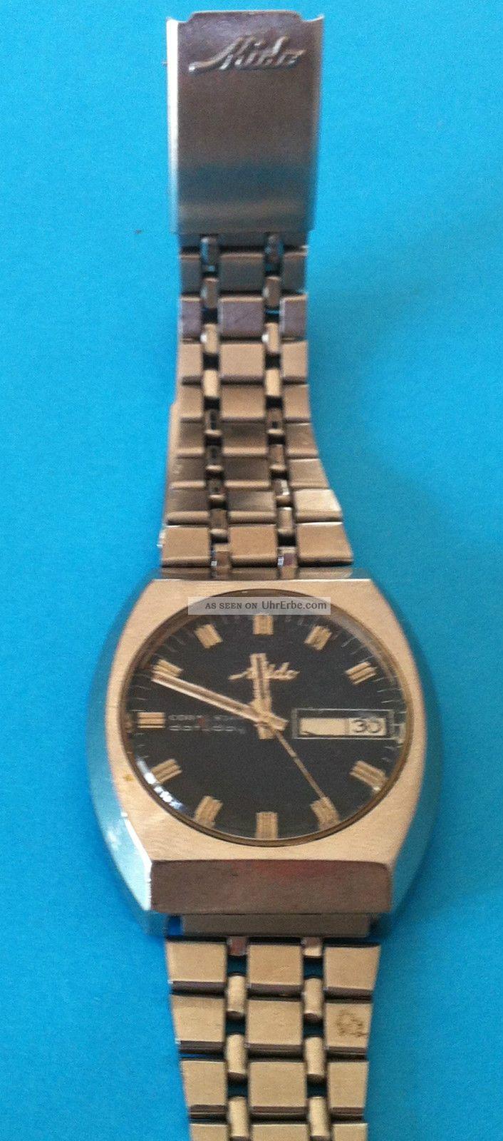 Mido Coral Star Datoday.  Cal.  1157cd.  Swiss Made.  Rare.  Vintage Armbanduhren Bild