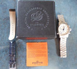 Fortis B - 42 Flieger Chronograph Alarm,  Box,  Stahl - U.  Neuem Orig.  - Lederarmband Bild