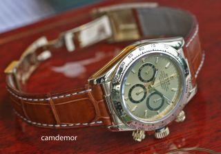 Rolex Daytona Gold/lederband Ref 16518 Mit Rechnung/garantie Bis Nov 2014 Top Bild