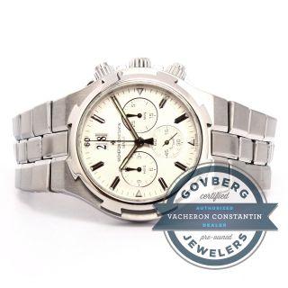 Vacheron Constantin Overseas Armbanduhr Stoppuhr Stahl Silber 49140/423a - 8790 Bild