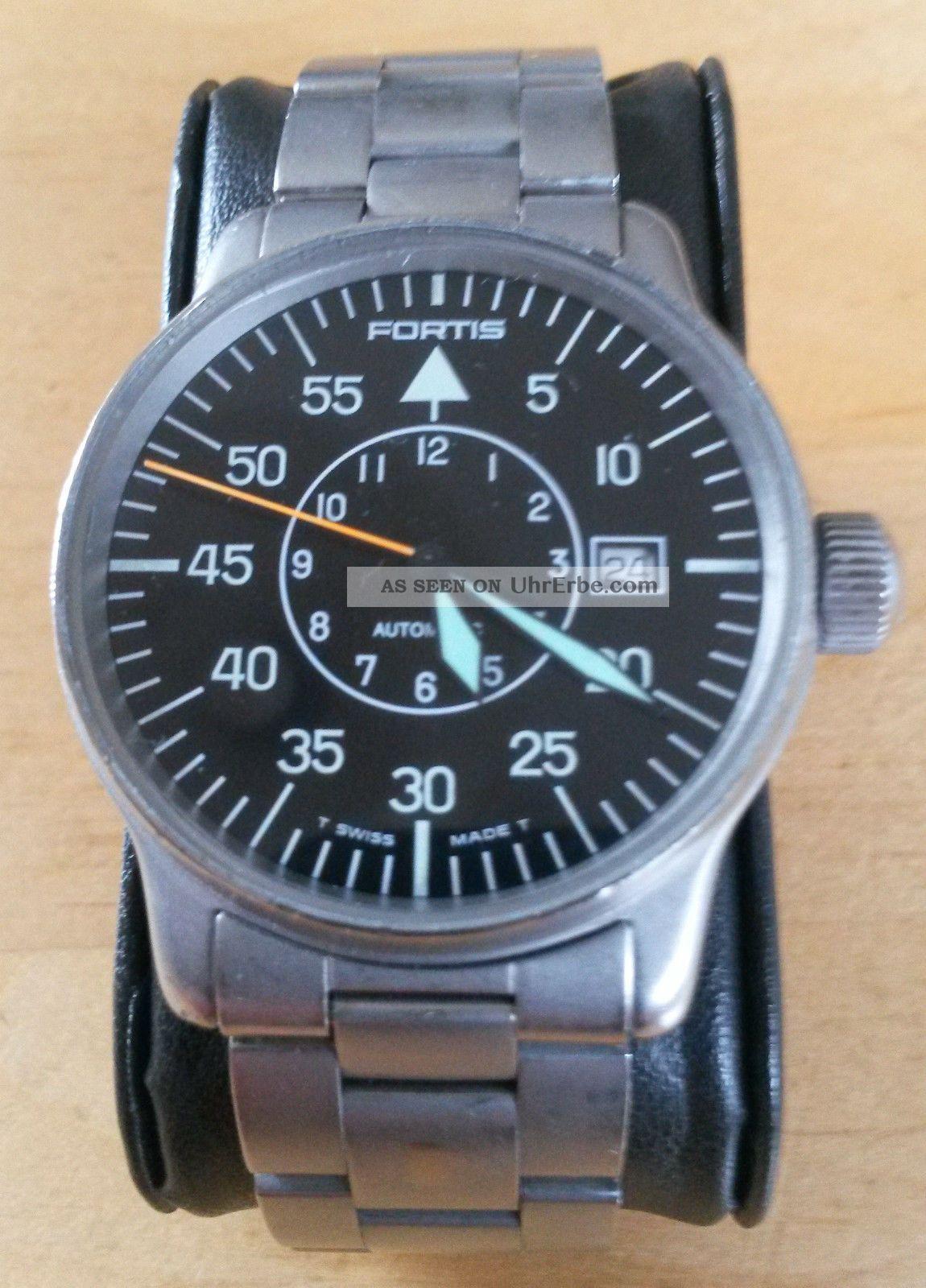 Fortis Fliegeruhr Flieger Edelstahl Automatik Herrenuhr 595.  10.  46 Armbanduhren Bild