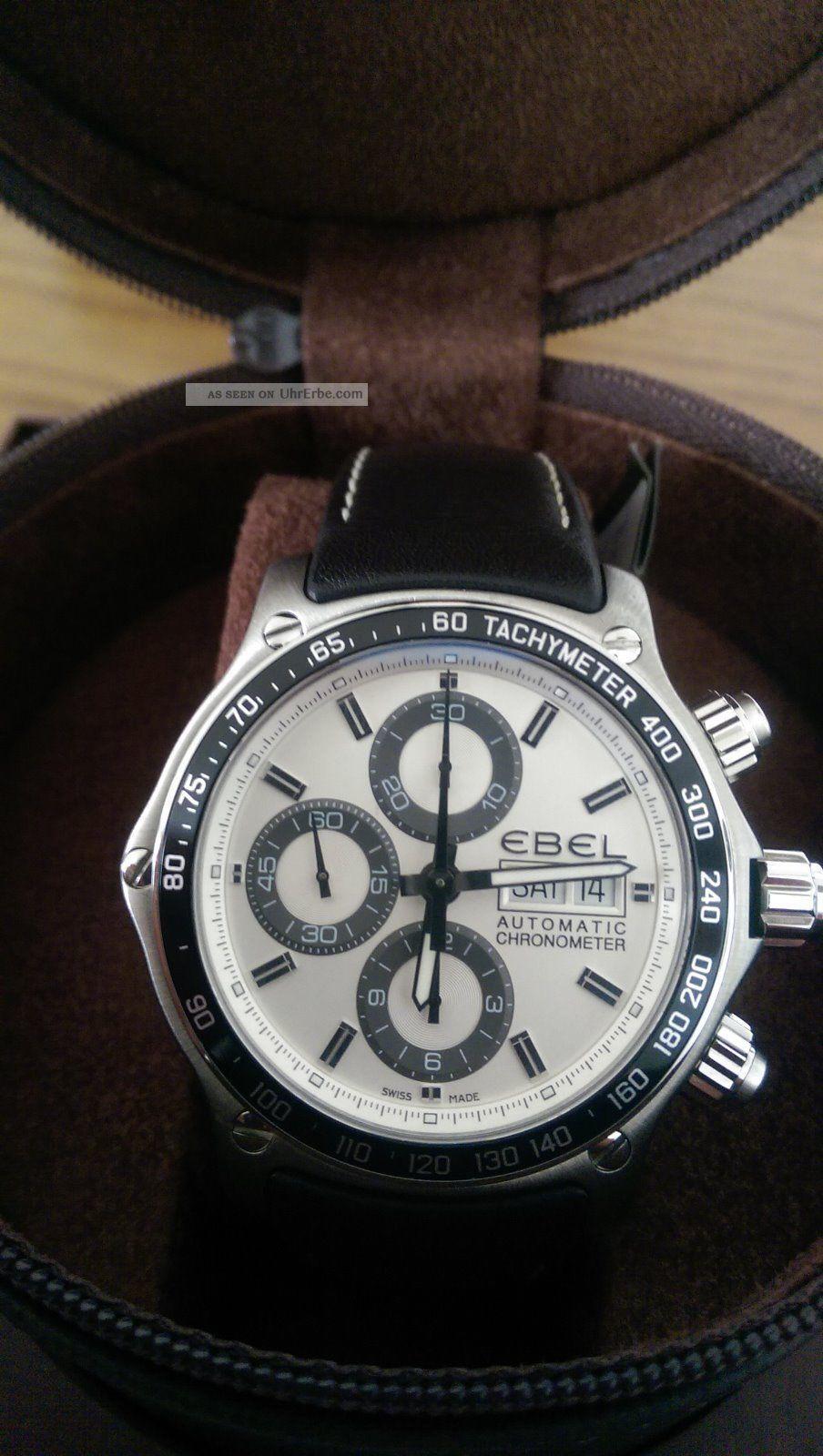Ebel Chronograph Uhr 1911 Discovery Chronometer Armbanduhren Bild
