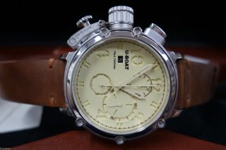 U - Boat Chimera Automatic Chrono Uhr Silber GehÄuse 48mm Limitiert 18/100 Bild