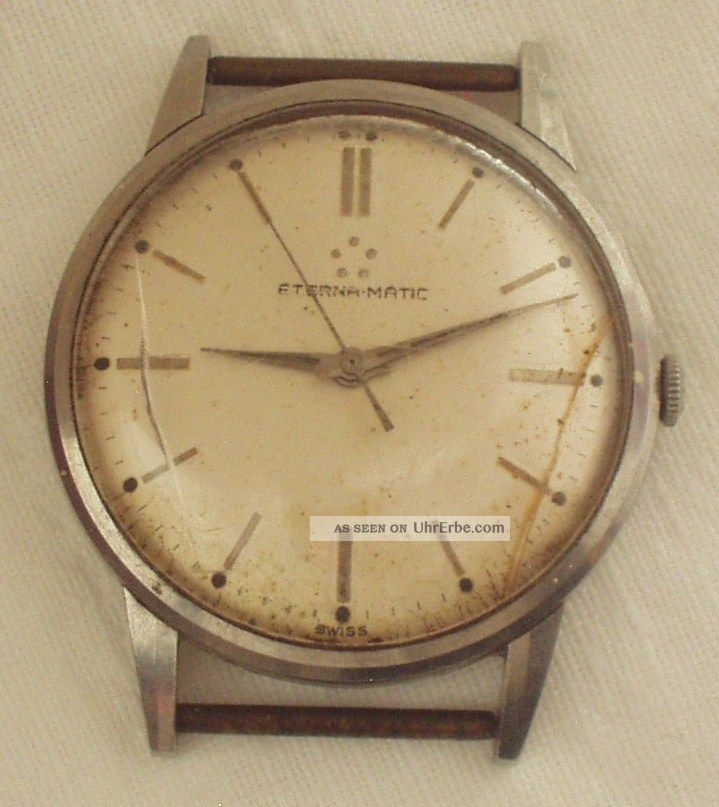 Armbanduhr Eterna Matic Mechanisch Automatic Uhr 1960 Armbanduhren Bild