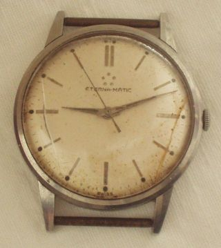 Armbanduhr Eterna Matic Mechanisch Automatic Uhr 1960 Bild