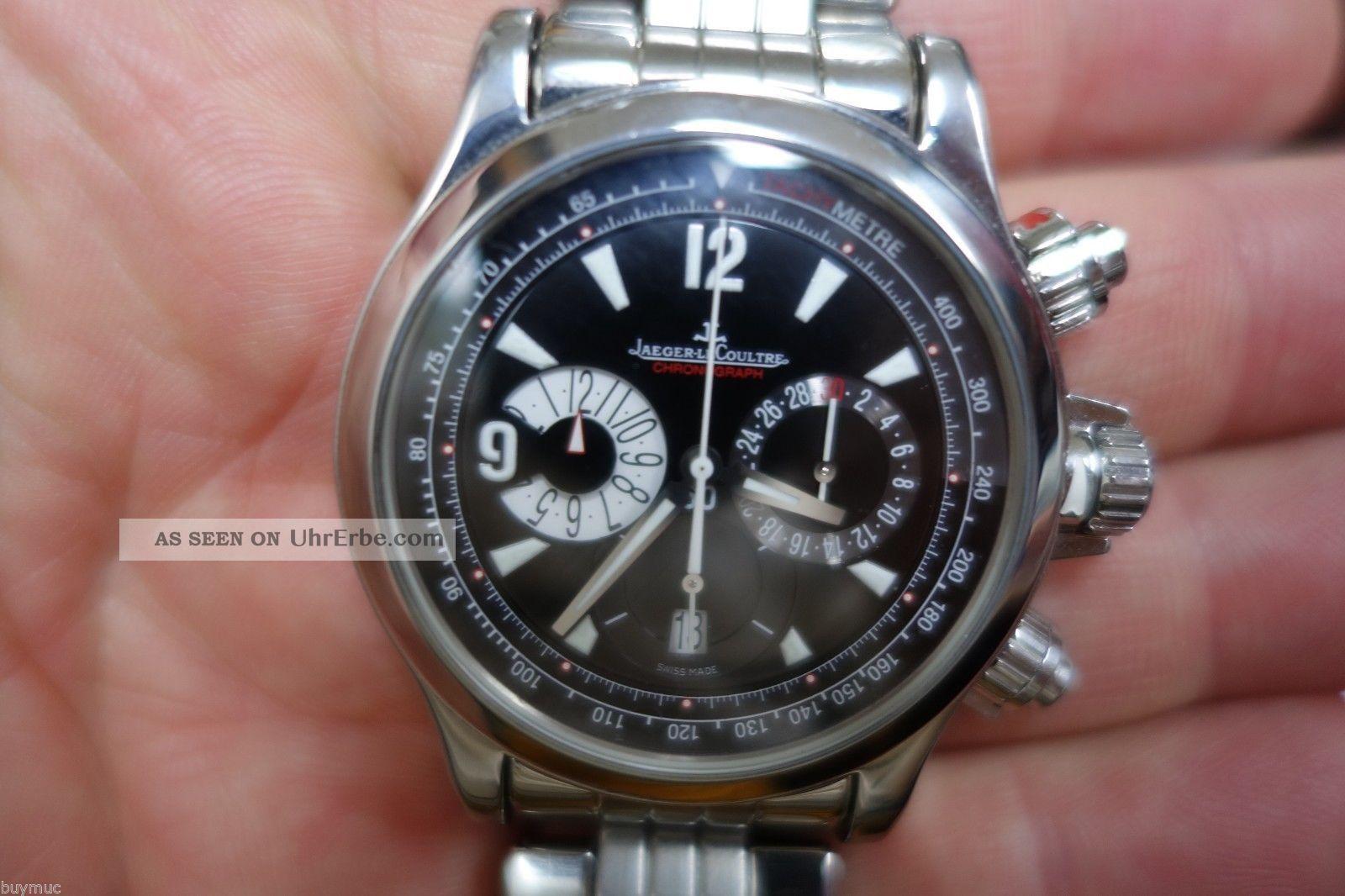Edle Jaeger Le Coultre Master Compressor Chronograph Uhr Stahl 40,  5mm Armbanduhren Bild