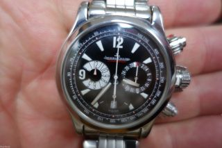 Edle Jaeger Le Coultre Master Compressor Chronograph Uhr Stahl 40,  5mm Bild