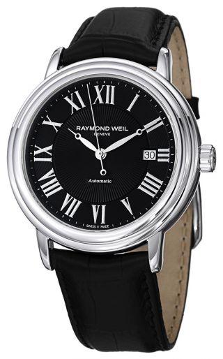 Raymond Weil Maestro Automatische Stahl Herren Band Watch Calendar 2847 - Stc - Bild