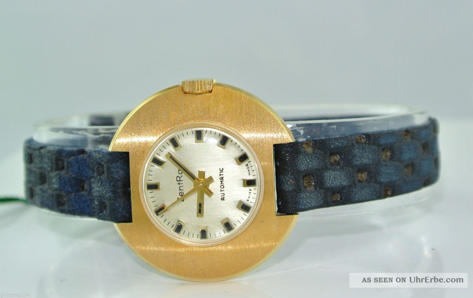 Zentra - Automatic - Damenarmbanduhr / Lederarmband Armbanduhren Bild