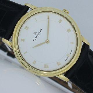Blancpain Villeret Ultra Slim Automatik Sichtboden Ø34mm Gold Uhr Bild